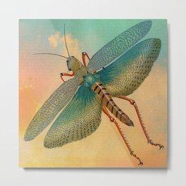 Flying Grasshopper Metal Print