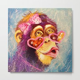 The monkey lady Metal Print