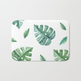 Watercolor leaf garden #society6 Bath Mat