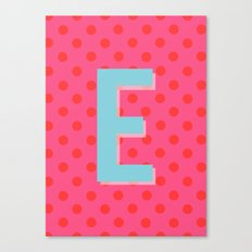 E is for Excellent Canvas Print