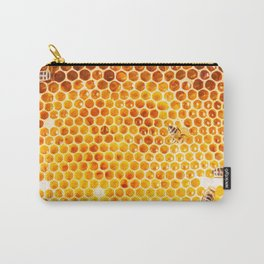 Honeycomb & Honeybee Carry-All Pouch