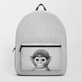Baby Monkey - Black & White Backpack