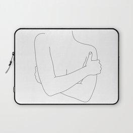 Woman's figure line drawing artwork - Dara Laptop Sleeve