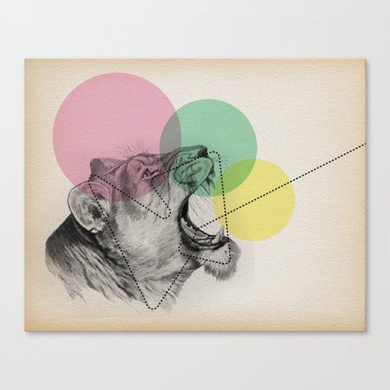 lioness line Canvas Print