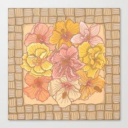 Hibiscus on Lauhala Canvas Print