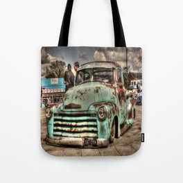 Rusty Chevrolet HDR Tote Bag