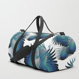 Fan Palm Leaves Paradise #1 #tropical #decor #art #society6 Duffle Bag