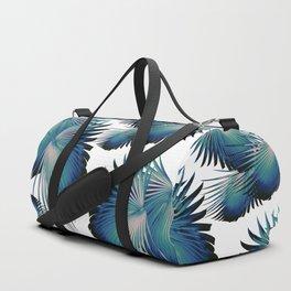Fan Palm Leaves Paradise #1 #tropical #decor #art #society6 Duffle Bag