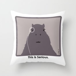 Professor Capybara III Throw Pillow