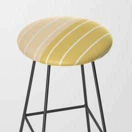 Two Tone Stripes - Yellow Bar Stool