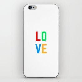 LOVE <3 iPhone Skin