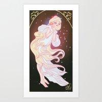 sailor venus Art Prints featuring Sailor Venus by Dixie Leota