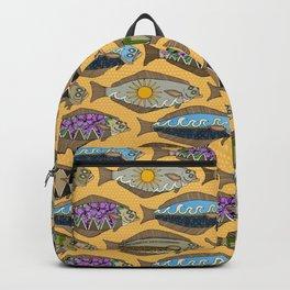 Alaskan halibut sungold Backpack
