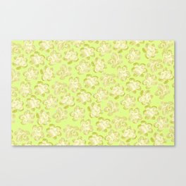 Wallflower - Butter Yellow Canvas Print