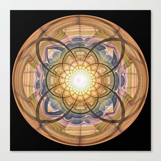 Groovy mandala with wild patterns Canvas Print