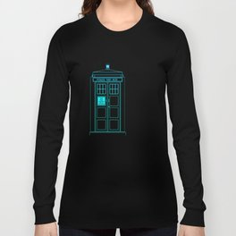 Tardis With The Twelfth Doctor Long Sleeve T-shirt