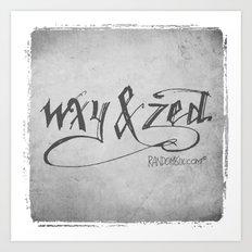 Handwriting: W, X, Y, & Zed Art Print