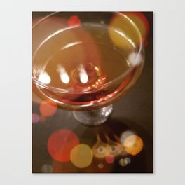 Lights Glistening in an Evening Drink Canvas Print
