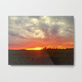 Chasing fire      (Curtain panel #1) Metal Print