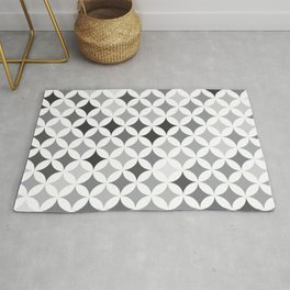 Geometric Star Pattern - Smoke #346 Rug