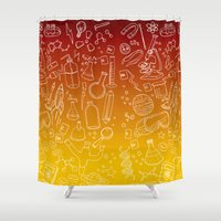 science Shower Curtains featuring Science yo! by minniemorrisart