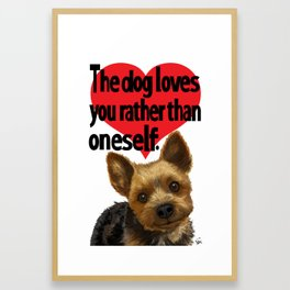 Pretty Puppy T Framed Art Print