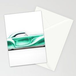 Vintage 1934 emerald green Packard Eight 2/4-Passenger Coupe Stationery Cards