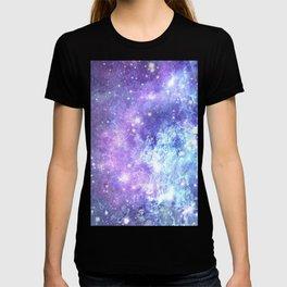 Grunge Galaxy Lavender Periwinkle Blue T-shirt