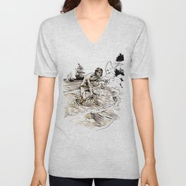 Out of the Sea of Red Unisex V-Neck