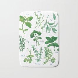 Kitchen Herbs Bath Mat