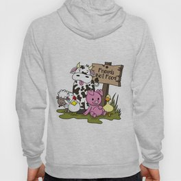 Friends Not Food Animal Rights Pig Cow present Hoody