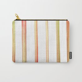 Rhubarb Stripes Carry-All Pouch