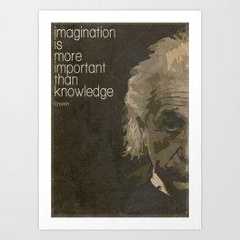 Einstein retro minimalist Art Print