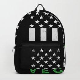 Vegan American Flag Backpack
