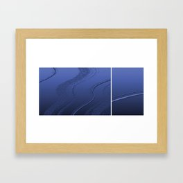 Abstract diptych Blue Framed Art Print