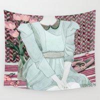lolita Wall Tapestries featuring Sitting Girl by Yuliya