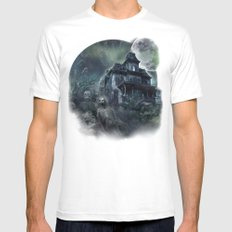 The Haunted House MEDIUM White Mens Fitted Tee