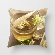 Elder Tea Still life for kitchen Throw Pillow