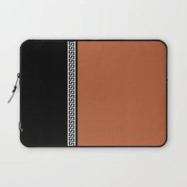 Greek Key 2 - Brown and Black Laptop Sleeve