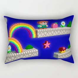 Inside Rainbow Islands Rectangular Pillow