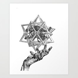 The intersection of worlds Art Print
