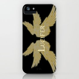 Lucifer with Wings Light iPhone Case