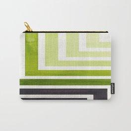 Sap Green Mid Century Modern Watercolor Colorful Ancient Aztec Art Pattern Minimalist Geometric Patt Carry-All Pouch