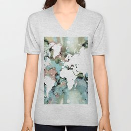 Design 96 world map Unisex V-Neck