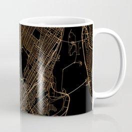 Black and gold Montreal map Coffee Mug