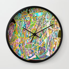 Heavy Metal Music on a Quiet Night Wall Clock