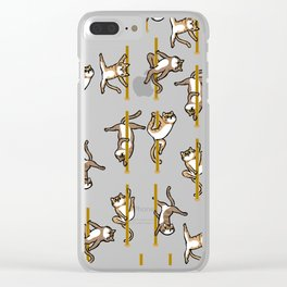 Cats Pole Dancing Club Clear iPhone Case