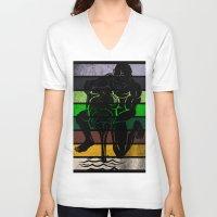 aquarius V-neck T-shirts featuring Aquarius by Rendra Sy