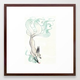 Fire Fox Framed Art Print