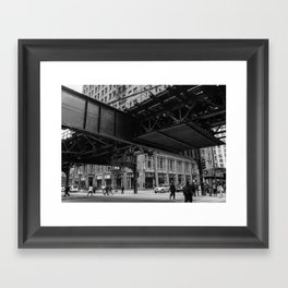"Under the ""L"" Framed Art Print"